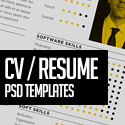 Post thumbnail of 15 Free Professional CV/Resume and Cover Letter PSD Templates