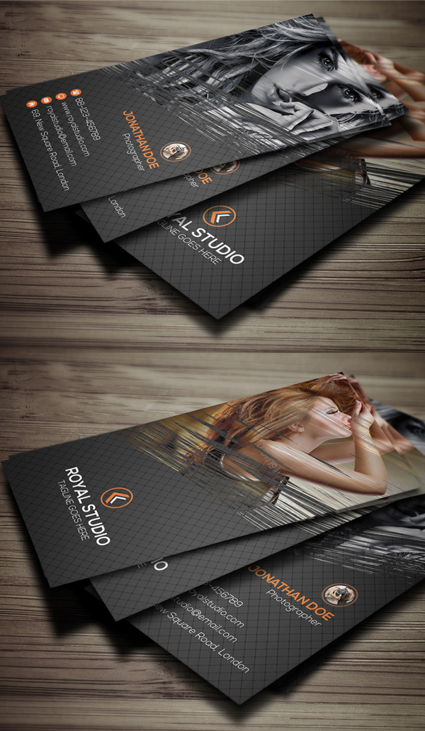 Photography Business Card Design #13