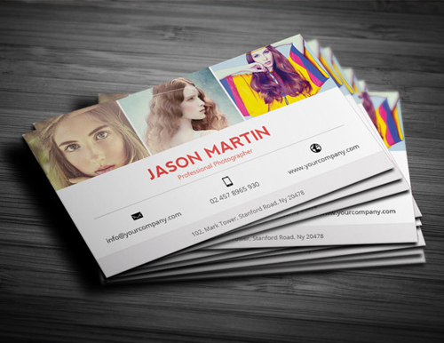 Photography Business Card Design #16