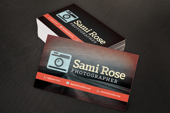 Photography Business Card Design #19