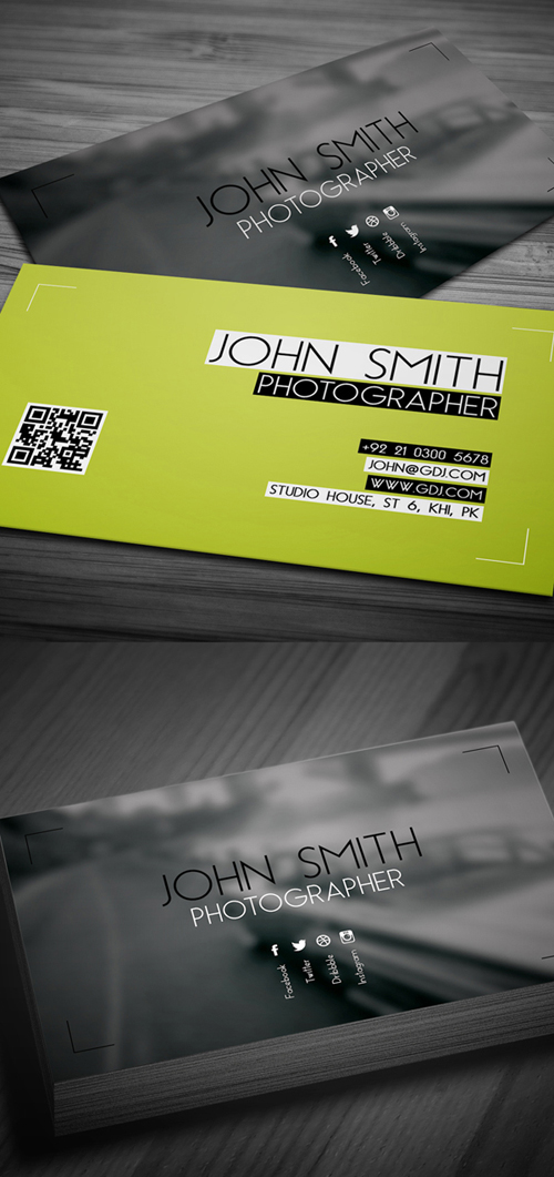 Photography Business Card Design #1