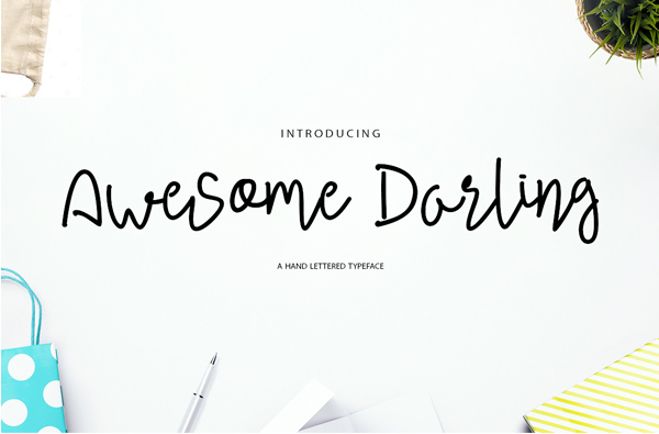 Awesome Darling Free Font