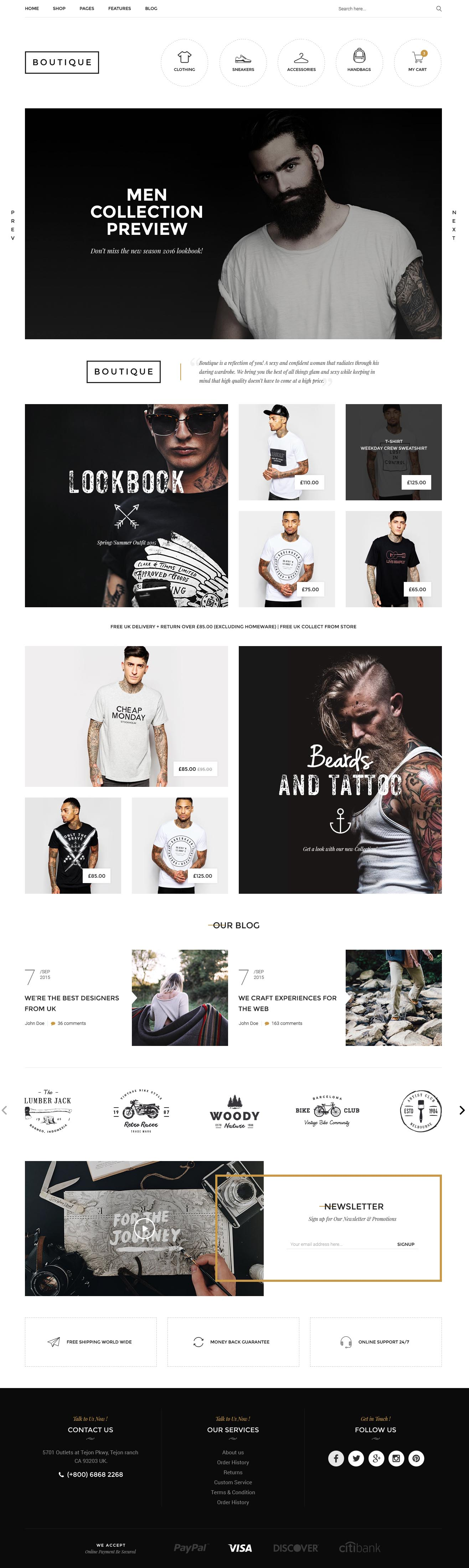 Boutique - Kute Fashion HTML Template