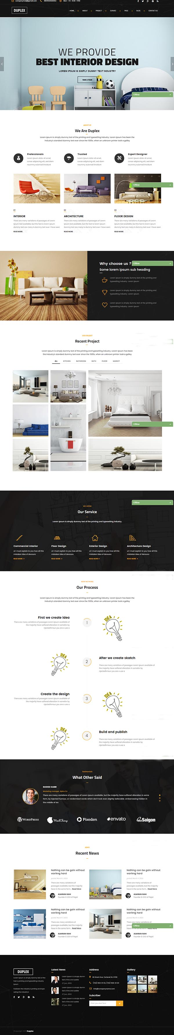 Duplex - Interior Design HTML5 Template