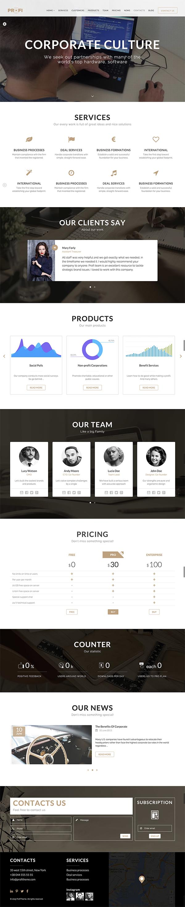 Profi - Multipurpose Corporate HTML Template