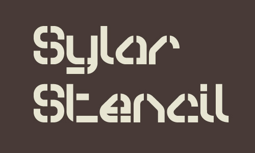 Sylar Stencil Font - Free Download