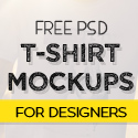 Post Thumbnail of Free 40 Best T-Shirt Mockup PSD Templates