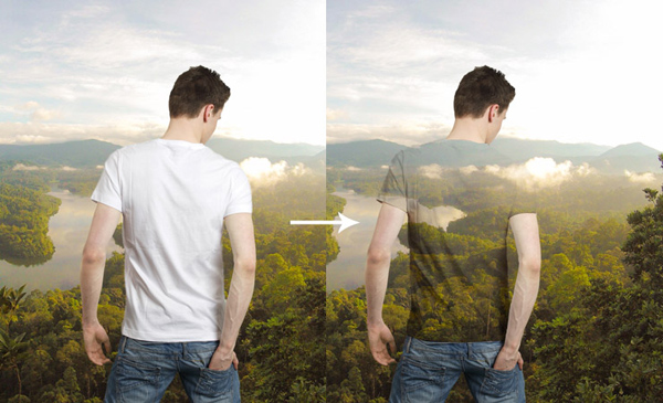 Create Transparent Shirt Effect in Photoshop Tutorial