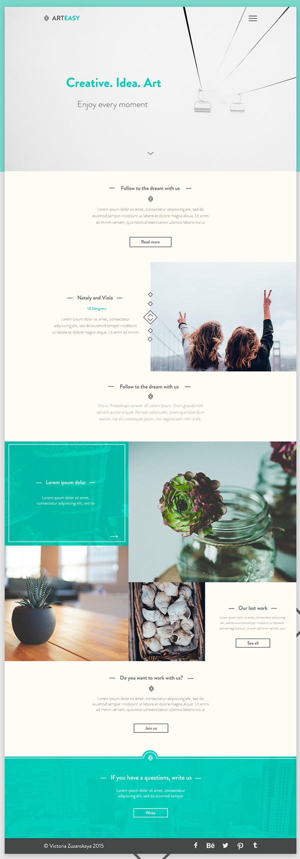 Minimal Free PSD (Home Page + Blog) Template
