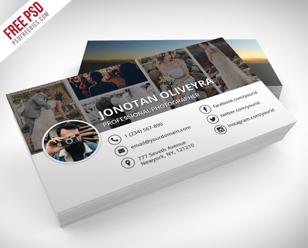 Free Professional Photographer Business Card PSD Template
