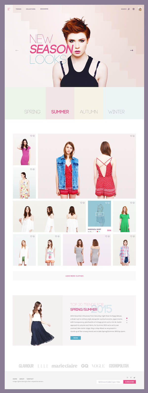 Fashion Store Concept PSD Template