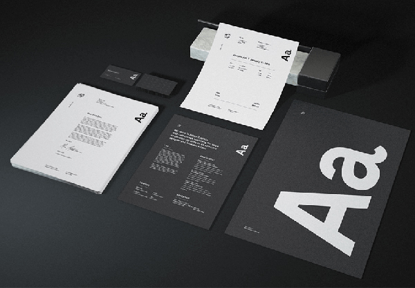 Free Dark Stationery Mockup PSD Bundle