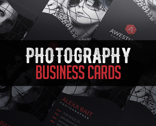 Modern Photography Business Card PSD Templates