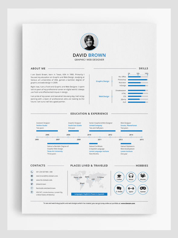 simple resume template indesign simple resume template