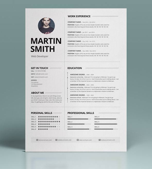 50 best minimal resume templates mixed sign 50 best minimal resume templates 18 altavistaventures Images