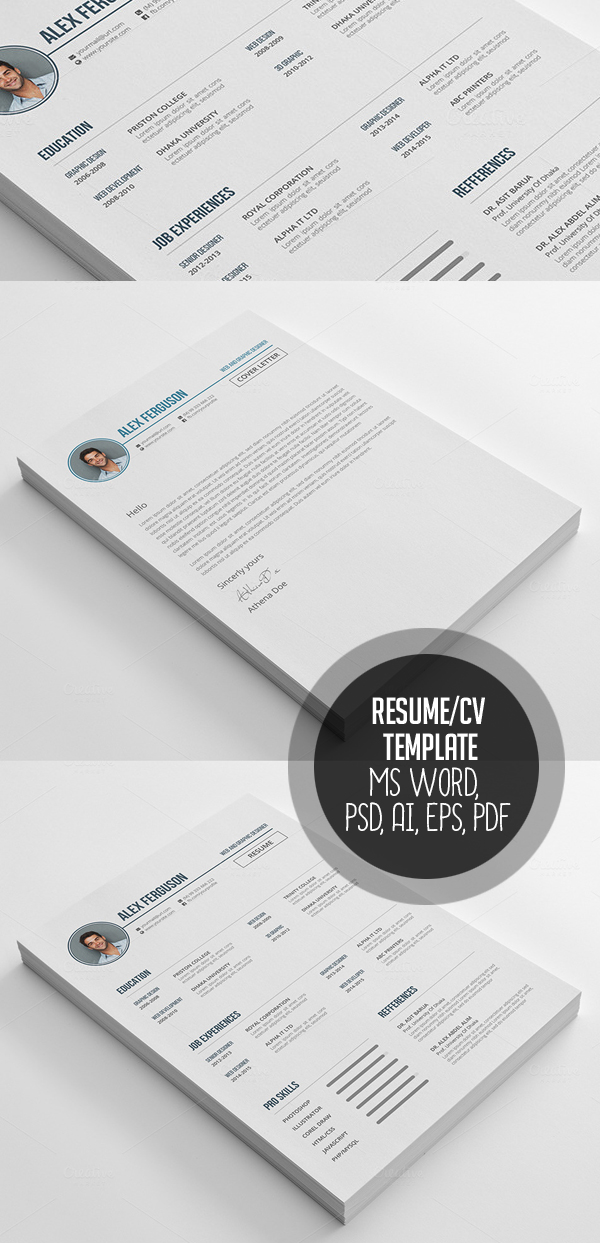 45  modern cv resume templates to get your dream job
