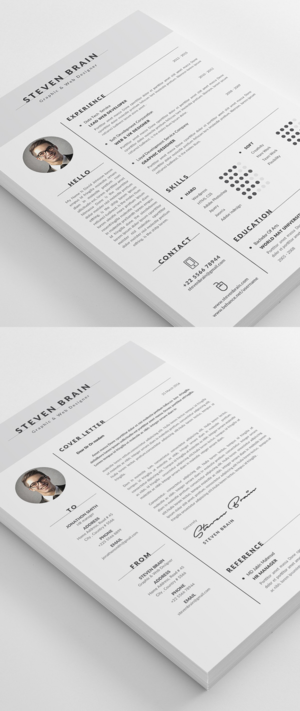 modern cv resume templates cover letter design graphic resume template cv template modern design
