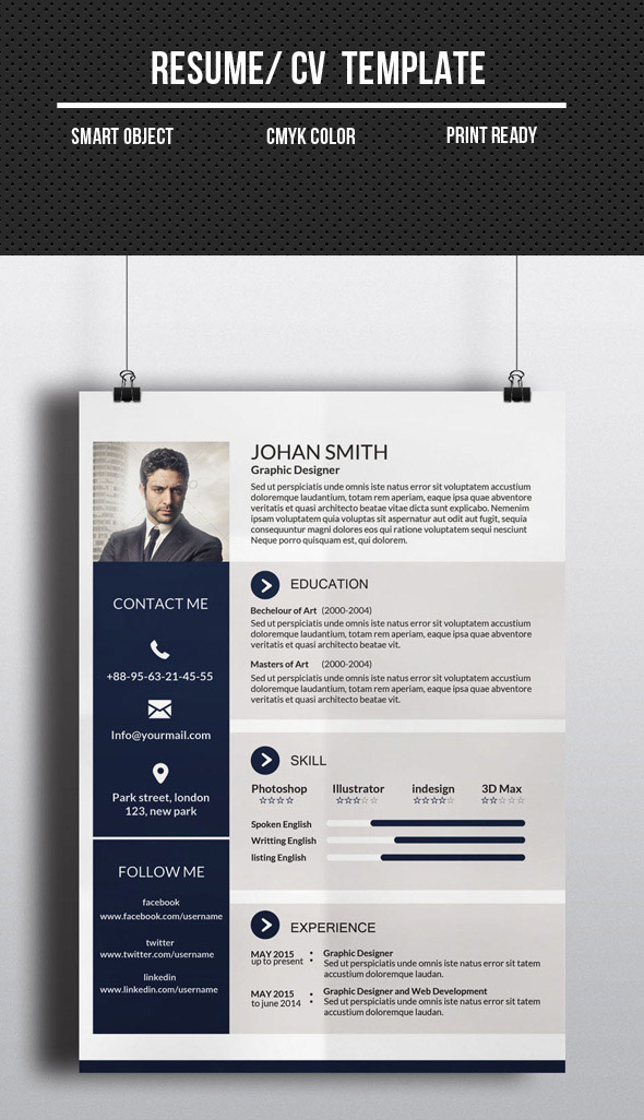Modern CV  Resume Templates with