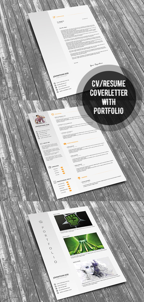 Resume CV Template with Cover Letter