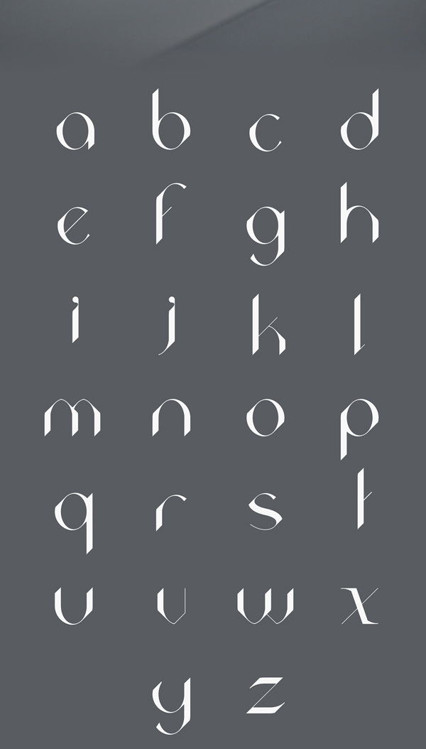 Acute fonts and letters