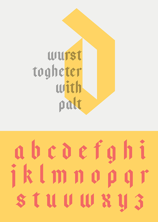 Bajern fonts and letters