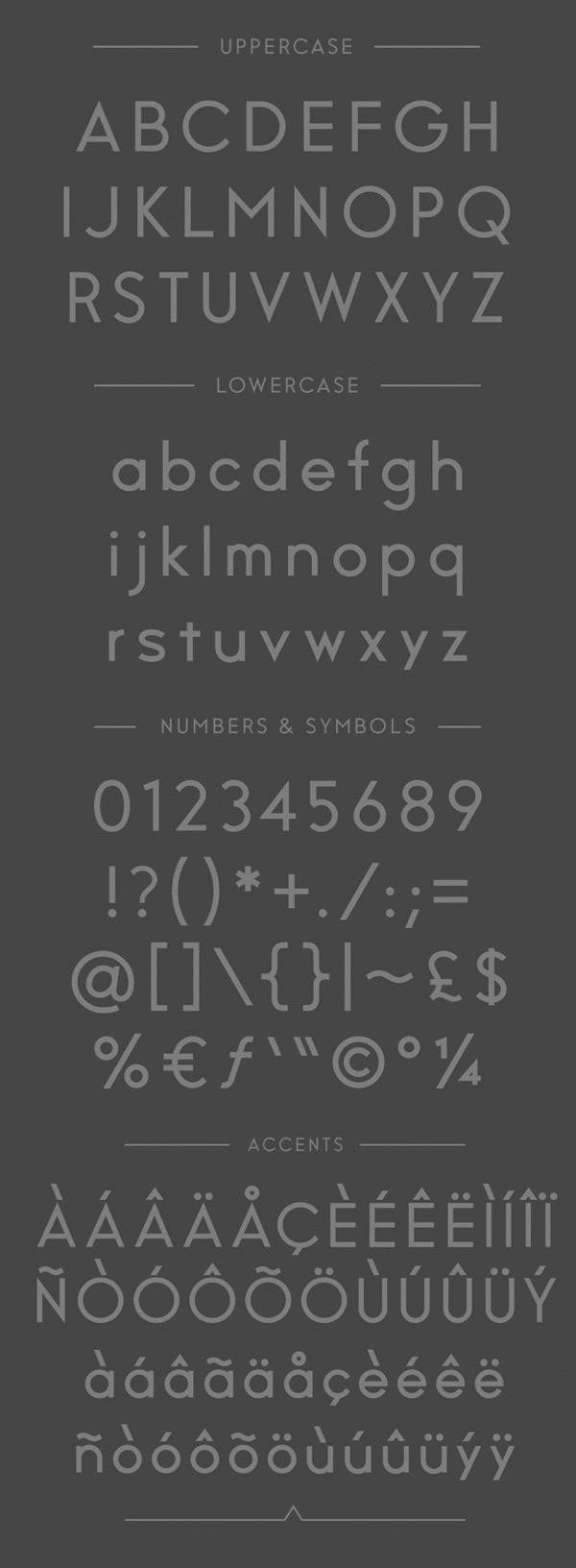 Stereo  fonts and letters