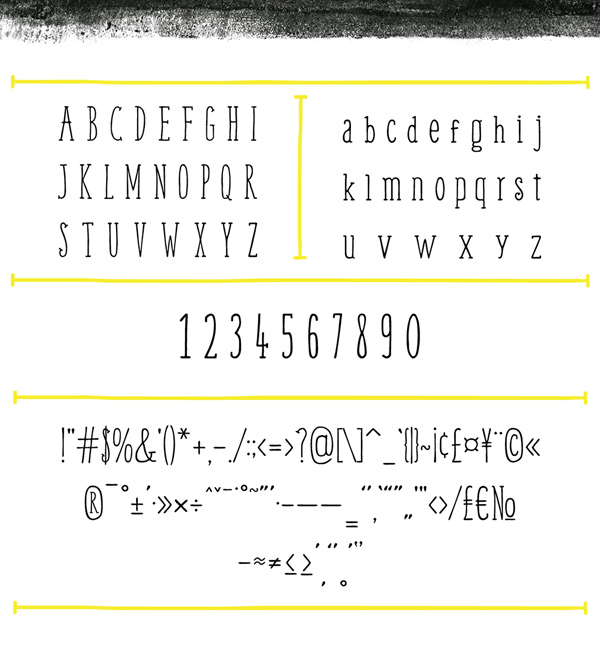 Weem fonts and letters