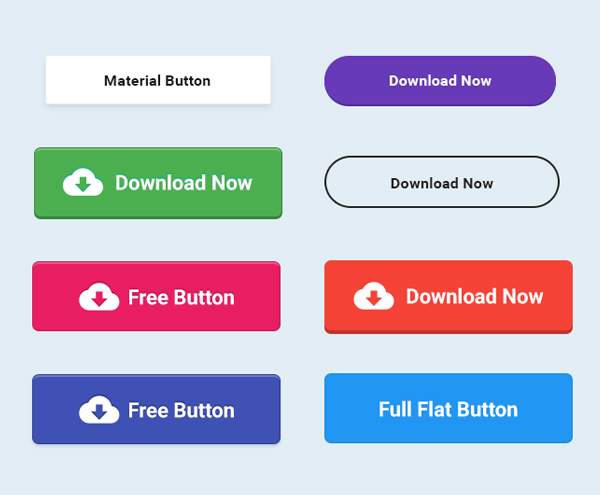 Free Button PSD
