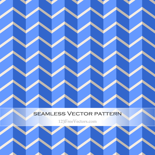 Chevron Blue Seamless Zigzag Pattern Vector