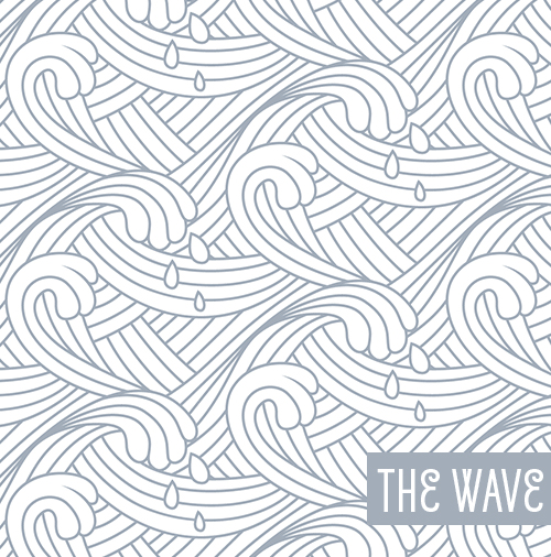 Free Wave Lines Vector Seamless Pattern