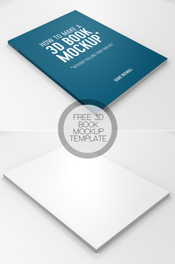 Free Book Mockup PSD Template