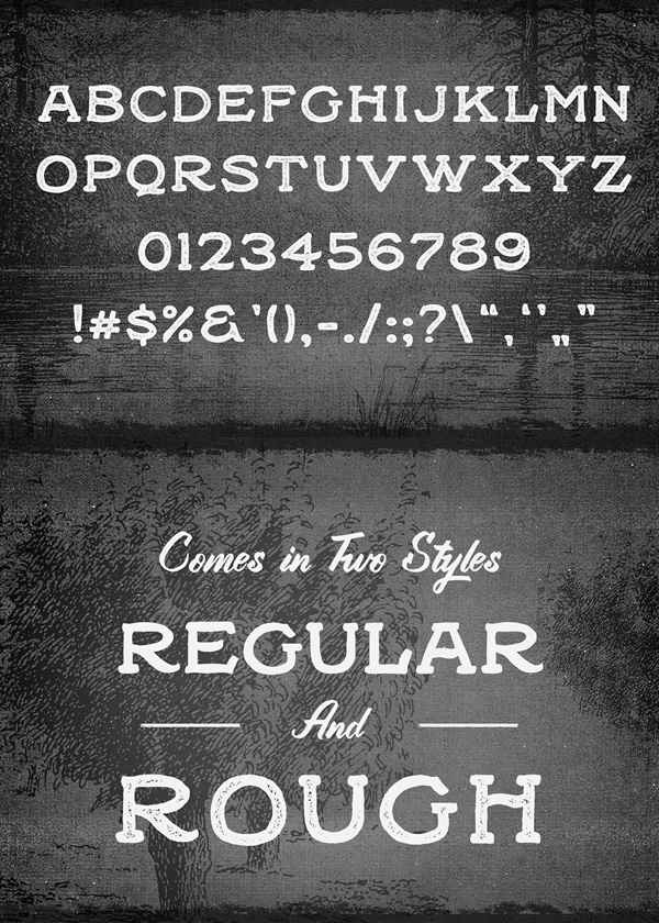 Black Willow Font Letters and Numbers
