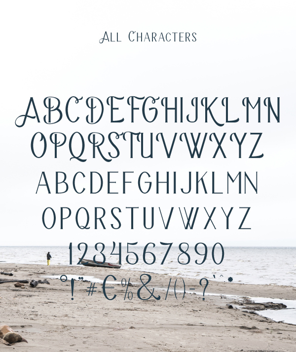 Bravery Font Letters