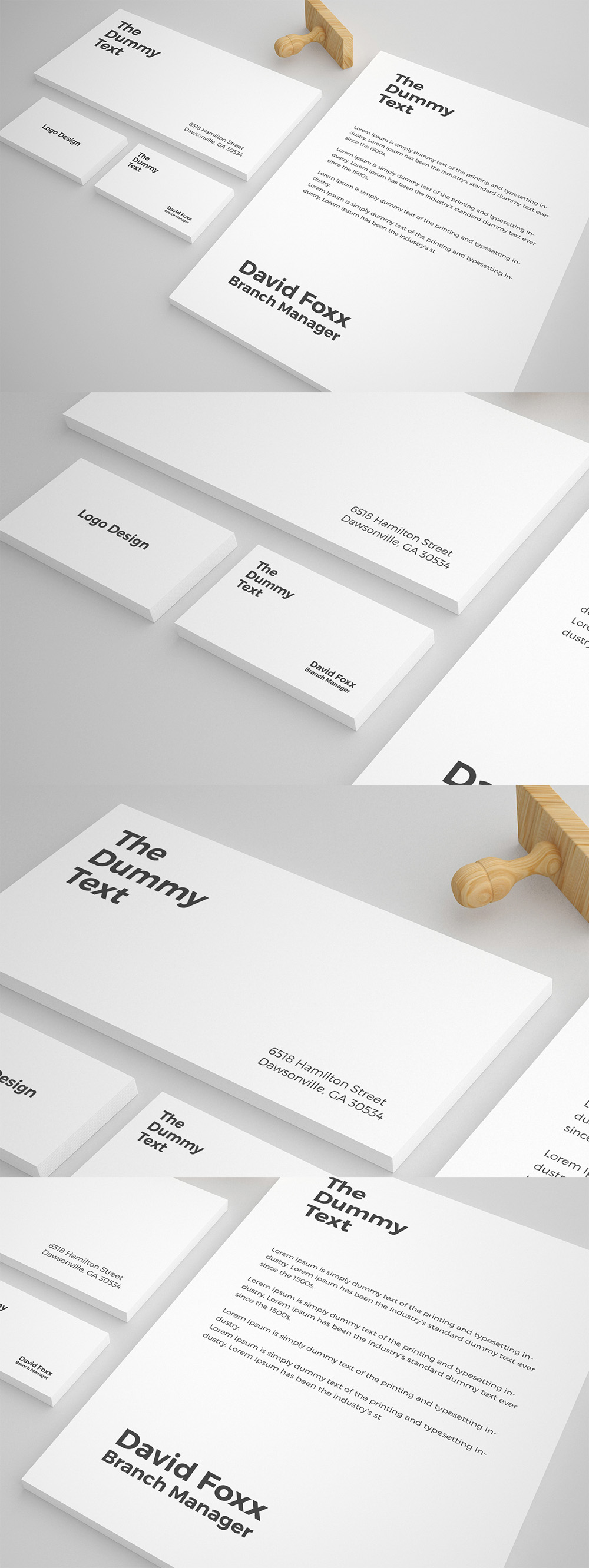 free stationary mockup psd template
