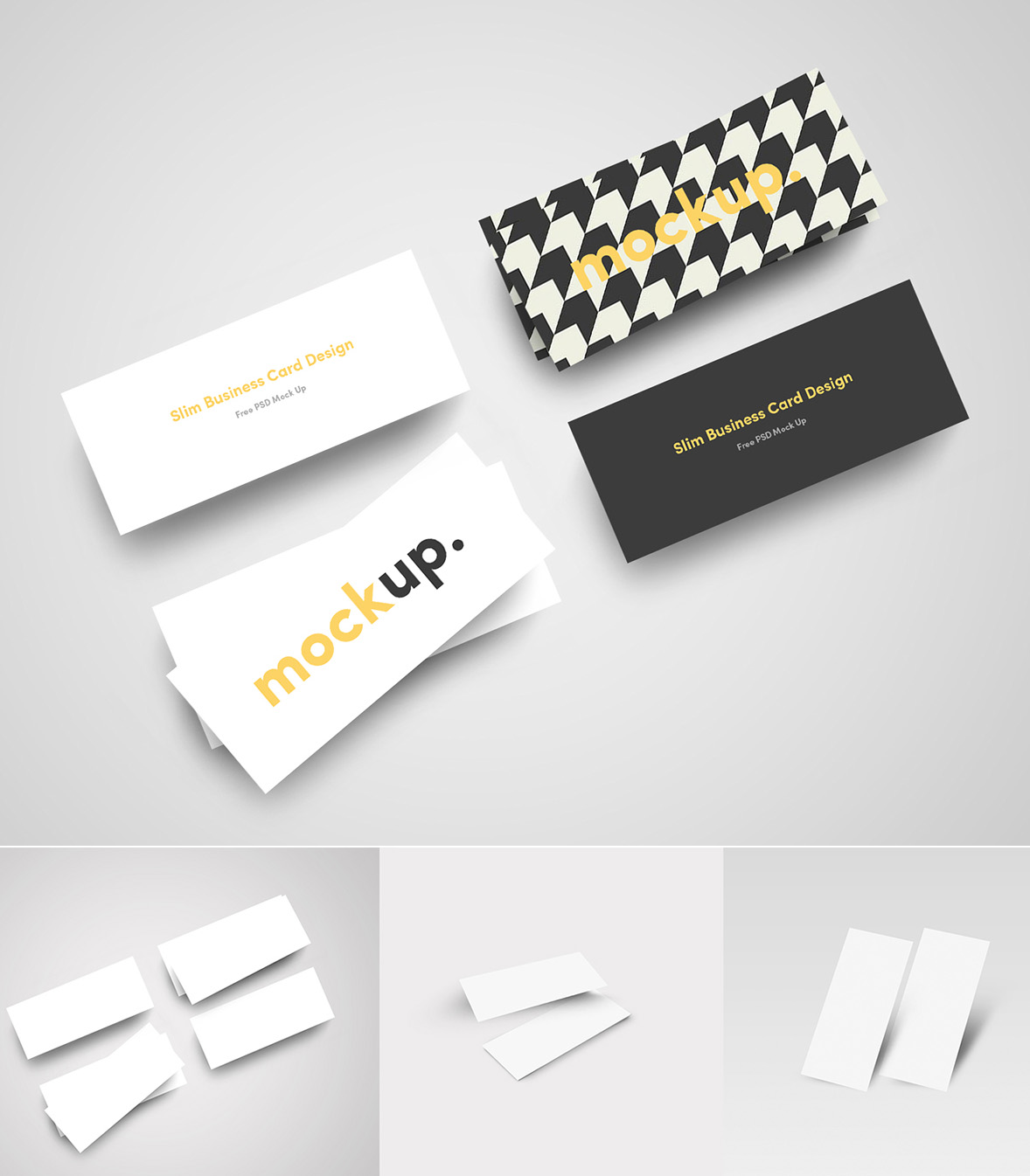 Free Slim Business Card MockUp