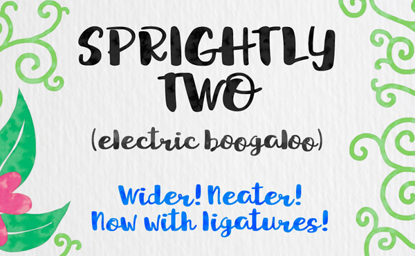 Sprightly Two Script Free Font