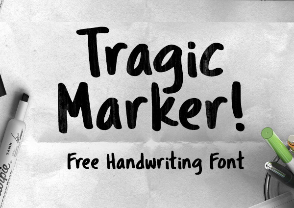 Tragic Markerfree fonts