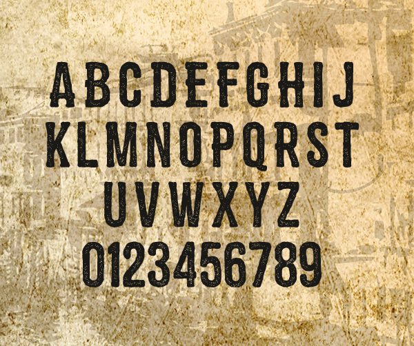 Zembood Font Letters and Numbers