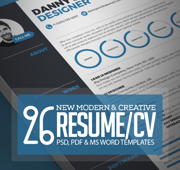 26 Creative CV / Resume Templates With Cover Letter