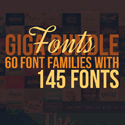 Post Thumbnail of Custom Fonts - 60 Font Bundles with 145 Amazing Fonts