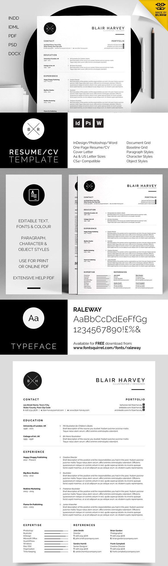 Blair - Branded Minimal Resume Set