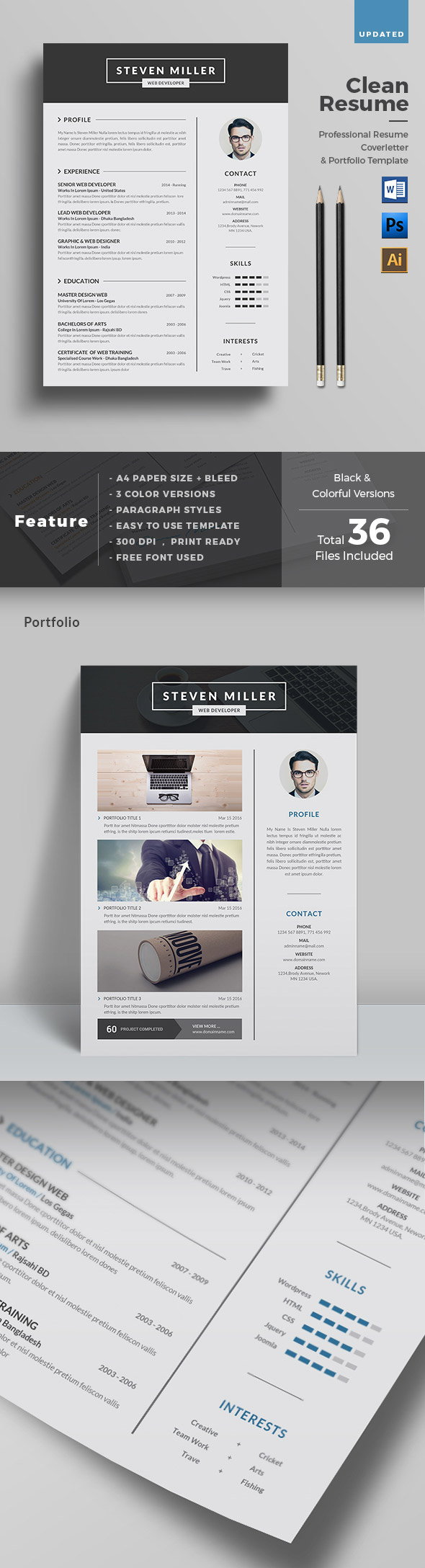 50 best minimal resume templates design graphic design junction 50 best minimal resume templates 22