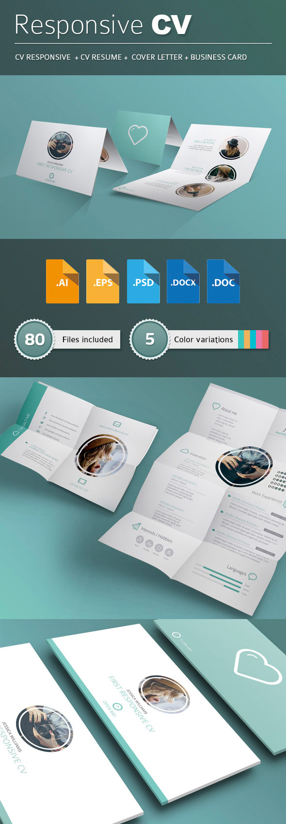 Responsive & Printable Resume/CV Pack