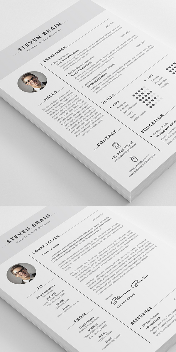 50 Best Minimal Resume Templates - 19
