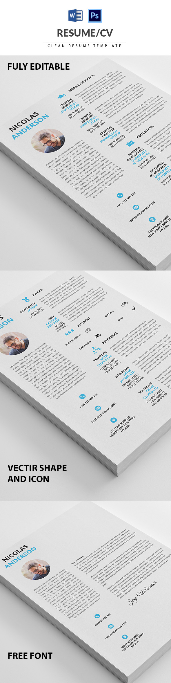 50 Best Minimal Resume Templates - 26