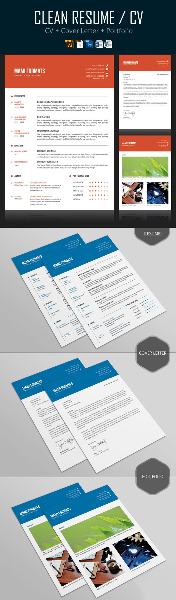 Simple CV/Resume & Cover Letter Design