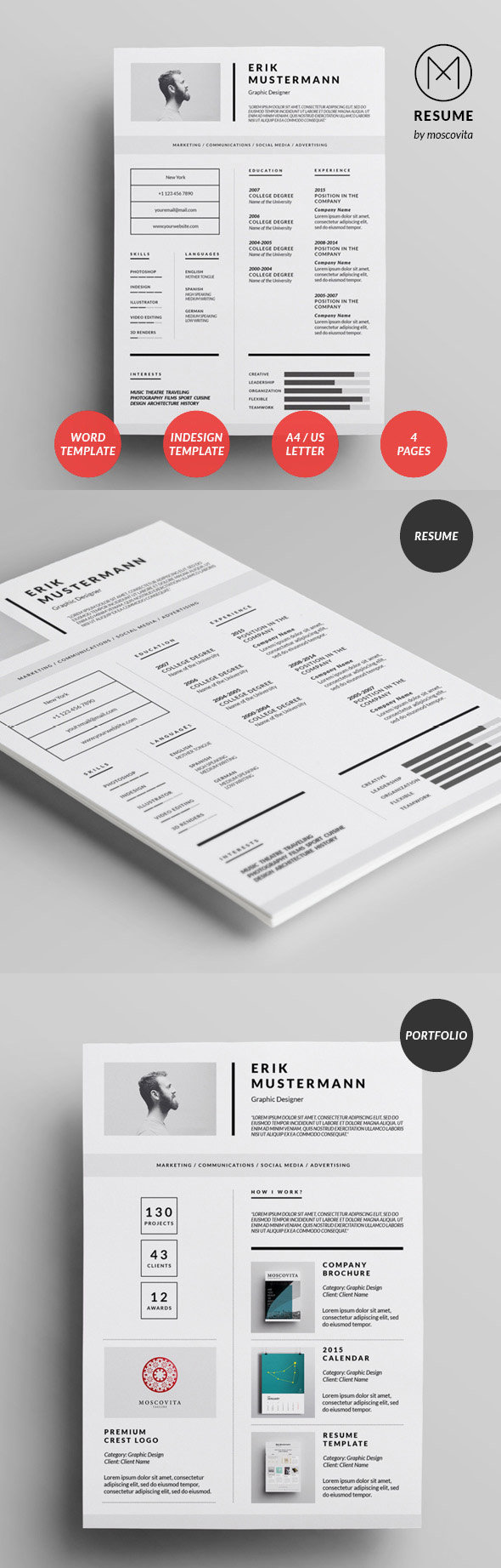 Best Cv  Resume Templates With Cover Letter  Mixed Sign