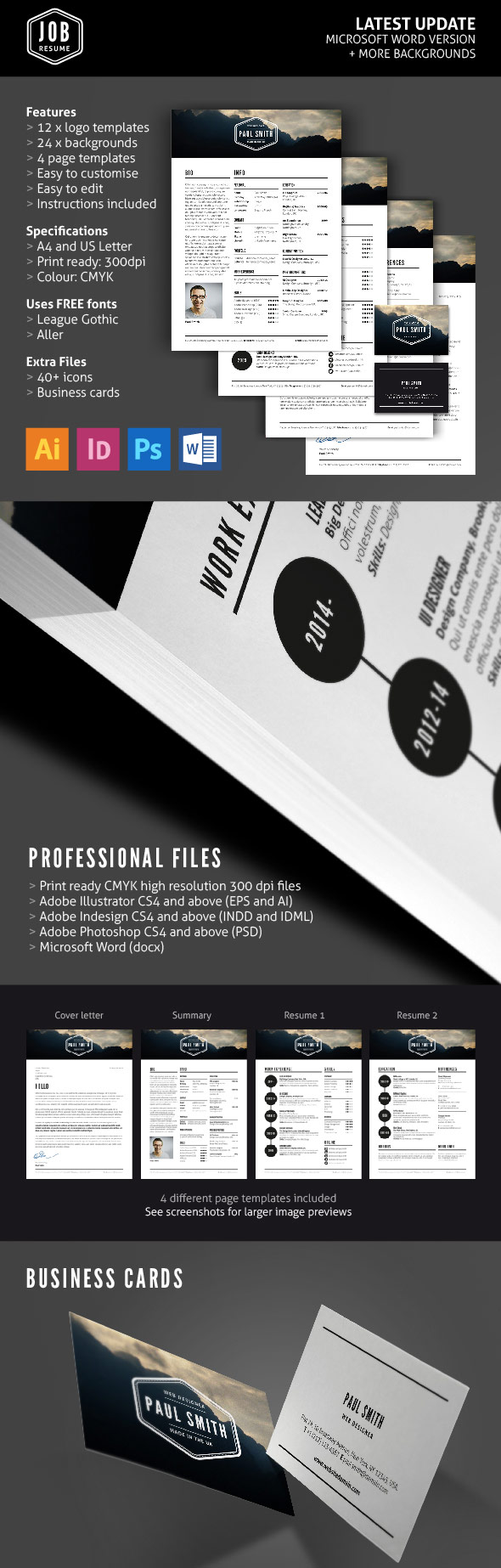 26 creative cv    resume templates with cover letter  u0026 portfolio page