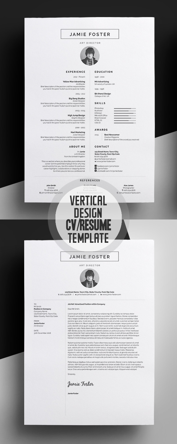 best minimal resume templates design graphic design
