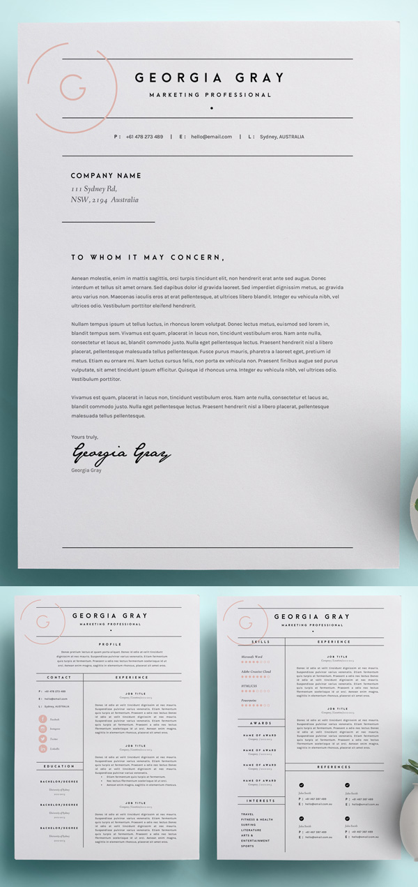 50 Best Minimal Resume Templates - 5
